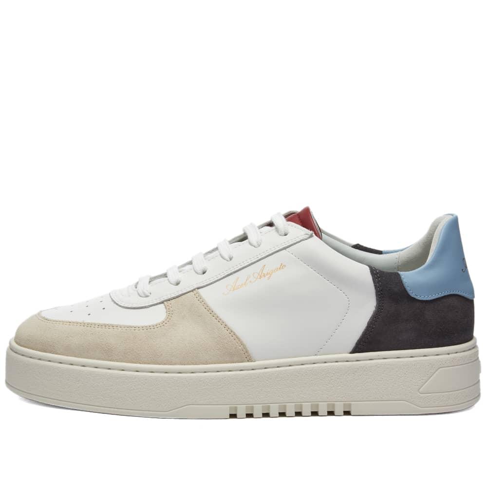 Axel Arigato Orbit Patch Sneaker - White, Blue & Red