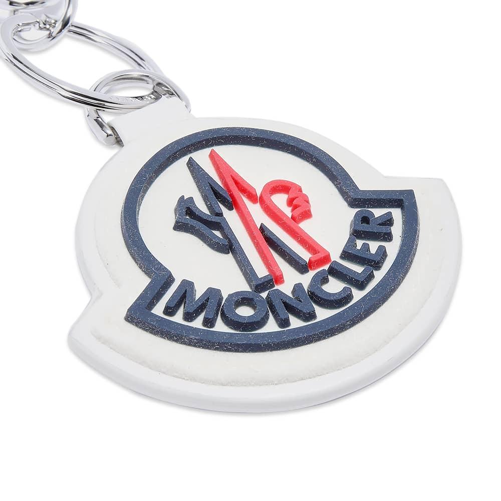 Moncler Logo Keyring - White