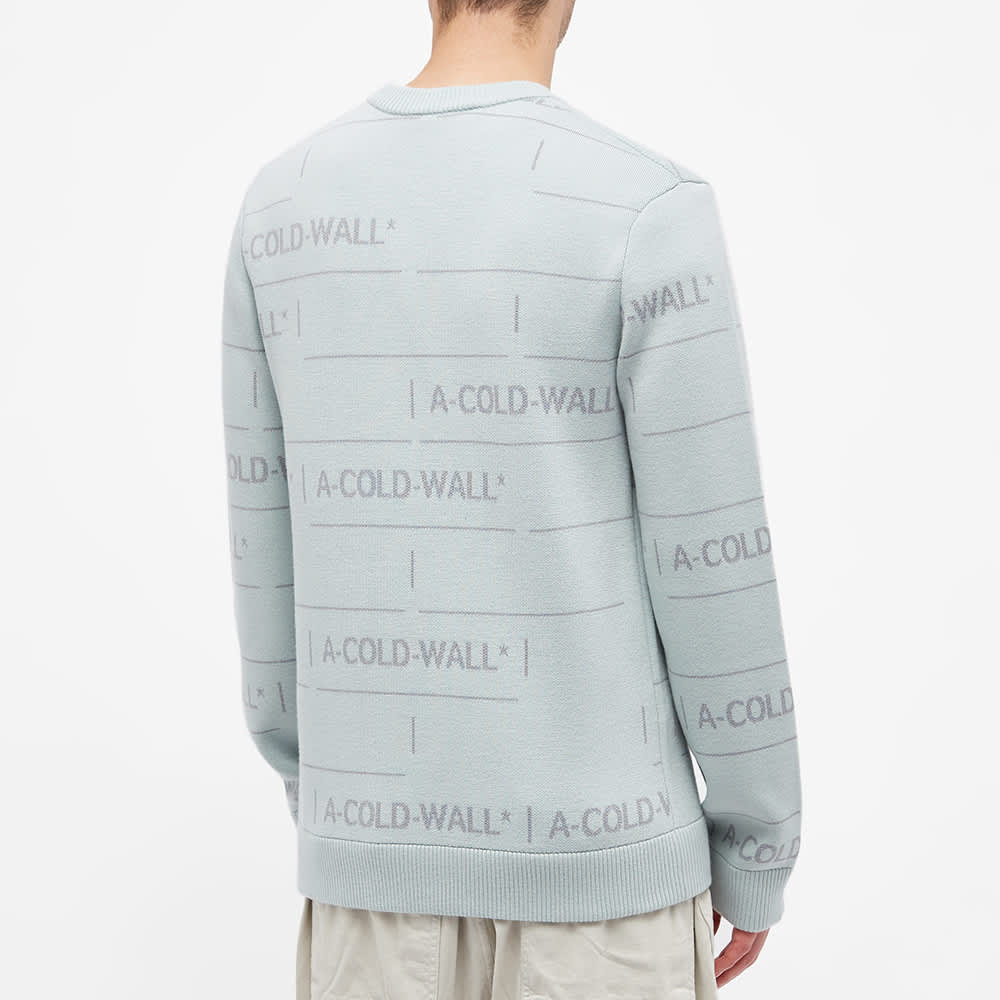 A-COLD-WALL* Chain Jacquard Knit - Ice Grey