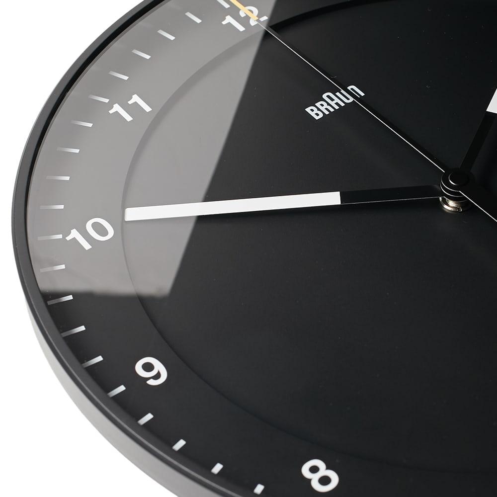 Braun 30cm Large Wall Clock - Black