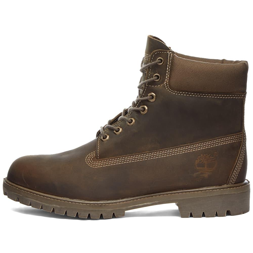 "Timberland Premium 6"" Waterproof Boot - Olive Full Grain"