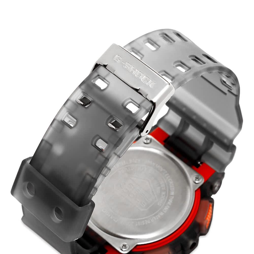 Casio G-Shock GA-110LS See-Thru Colour Pop Watch - Black & Red