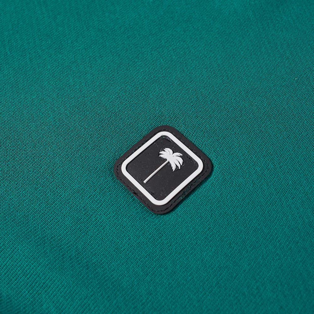 Palm Angels Patch Logo Crew Sweat - Green & White