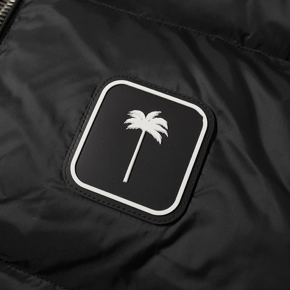 Palm Angels Patch Logo Down Gilet - Black & White