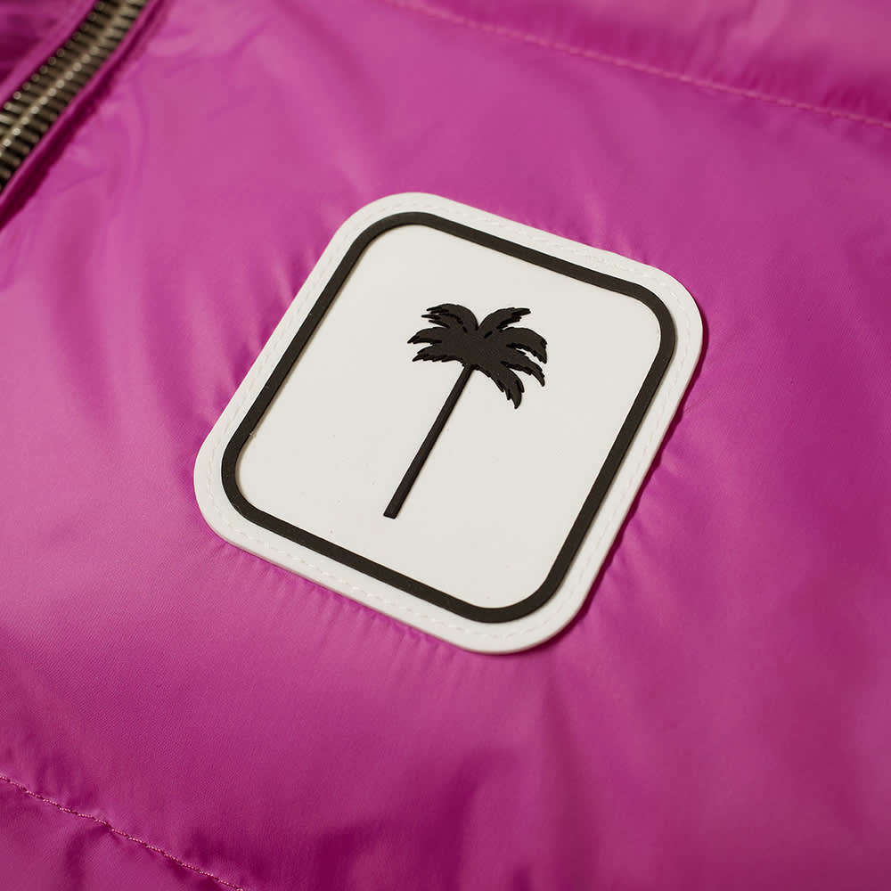Palm Angels Patch Logo Down Gilet - Fuchsia & White