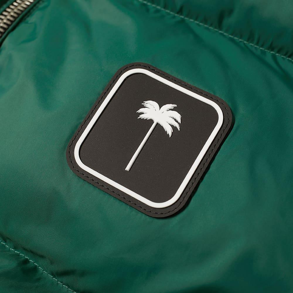 Palm Angels Patch Logo Down Gilet - Green & White