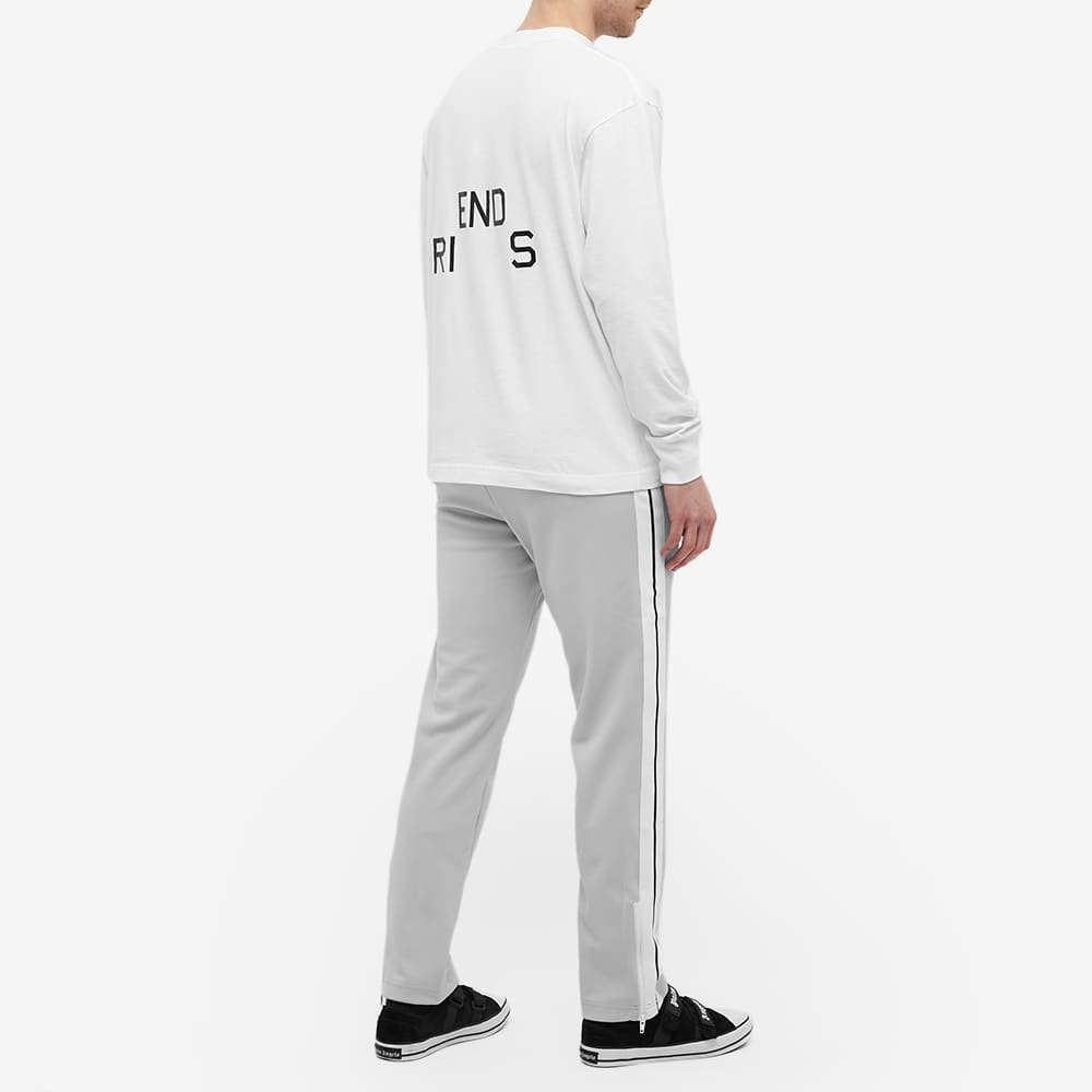 Palm Angels Long Sleeve Friends And Family Logo Tee - White & Black
