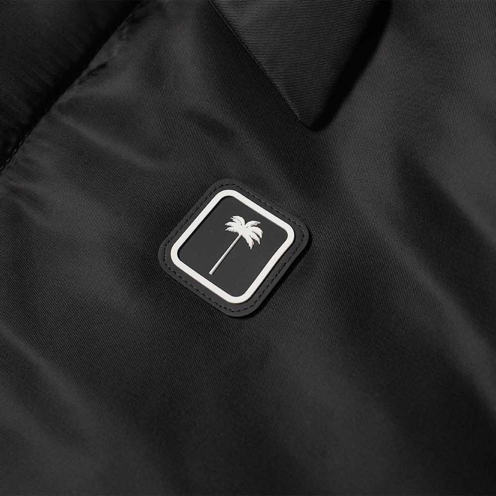 Palm Angels Patch Logo Puffer Blouson - Black & White
