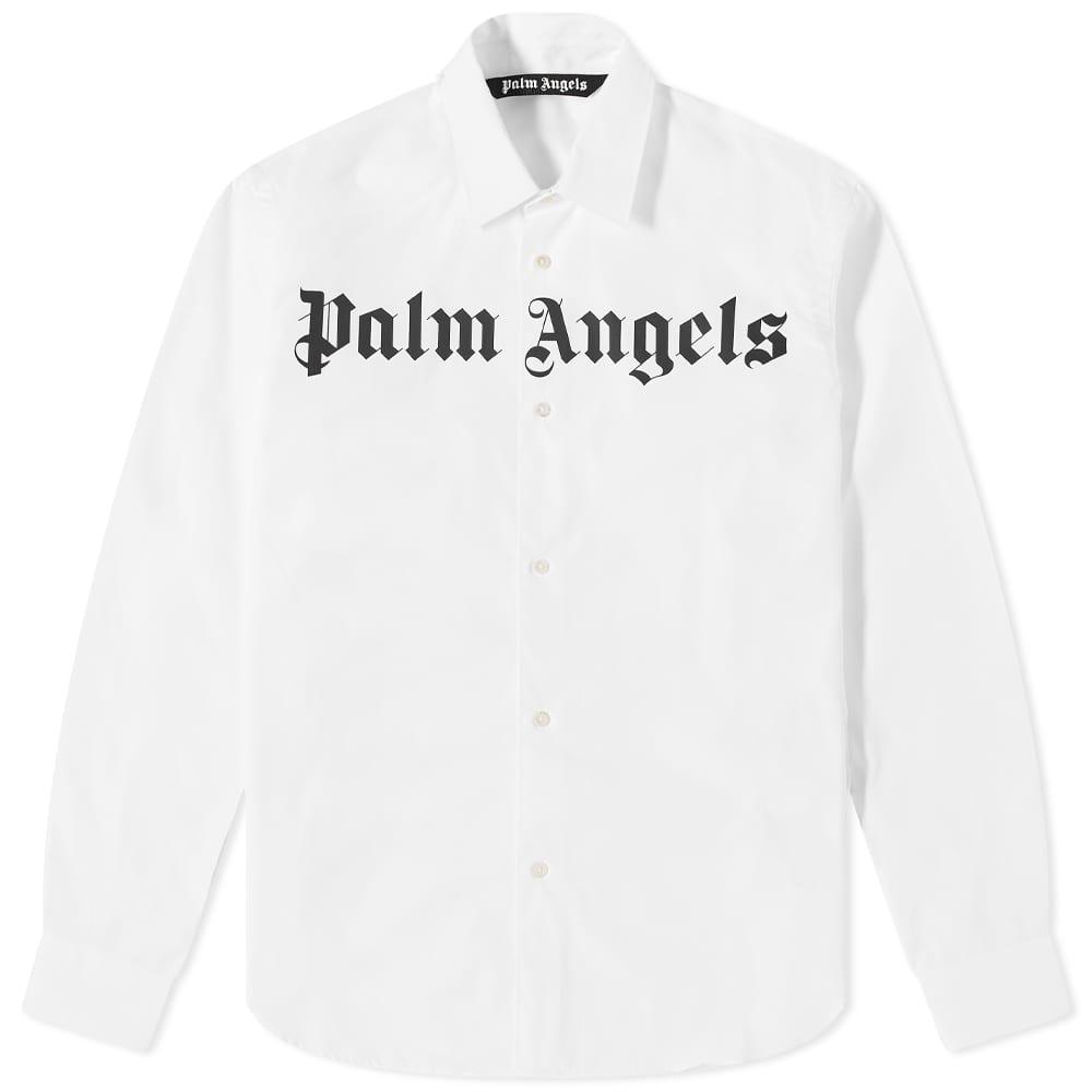 Palm Angels Classic Logo Shirt - White & Black