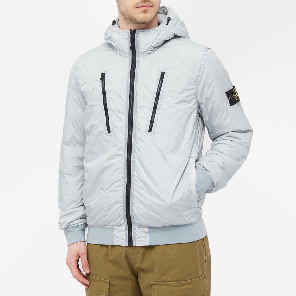 Stone Island Crinkle Reps Pocket Detail Down Jacket - Light Grey