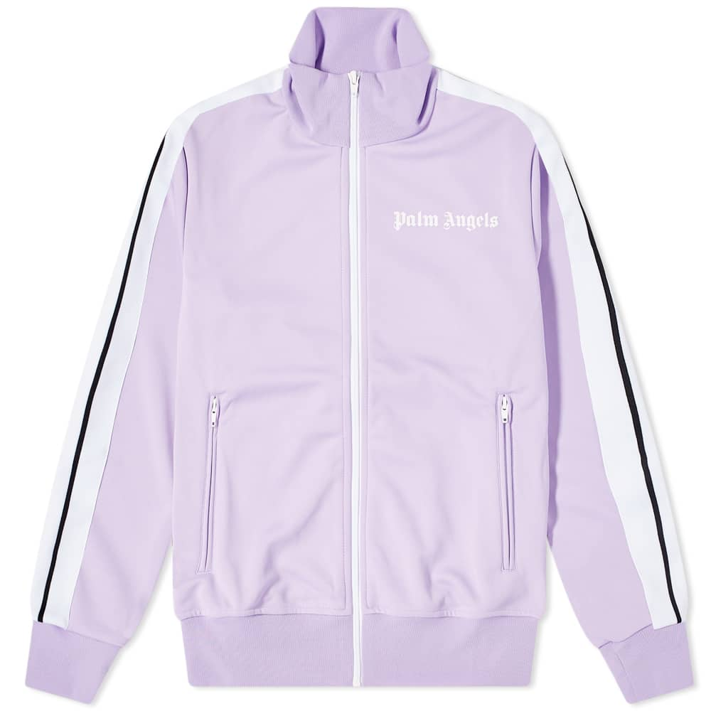 Palm Angels Classic Track Jacket - Lilac & White