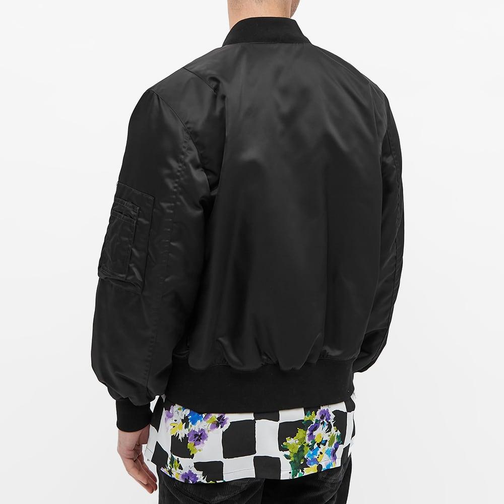 Palm Angels Patch Logo Bomber Jacket - Black & White