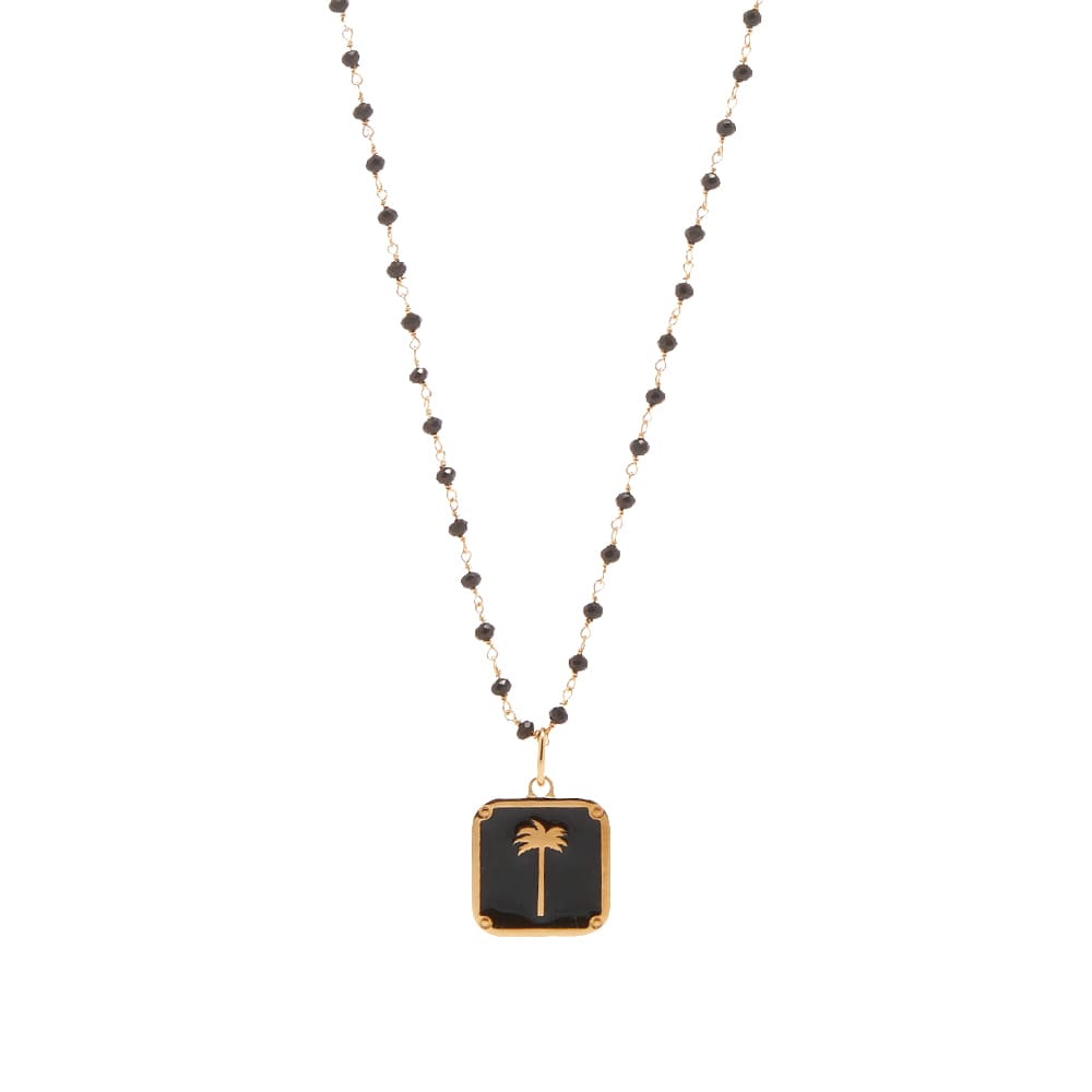 Palm Angels Palm Pendant And Necklace - Gold