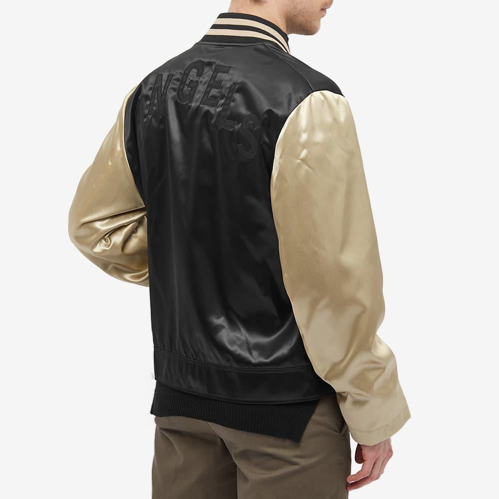 Palm Angels Patch Logo Varsity Jacket - Black & White