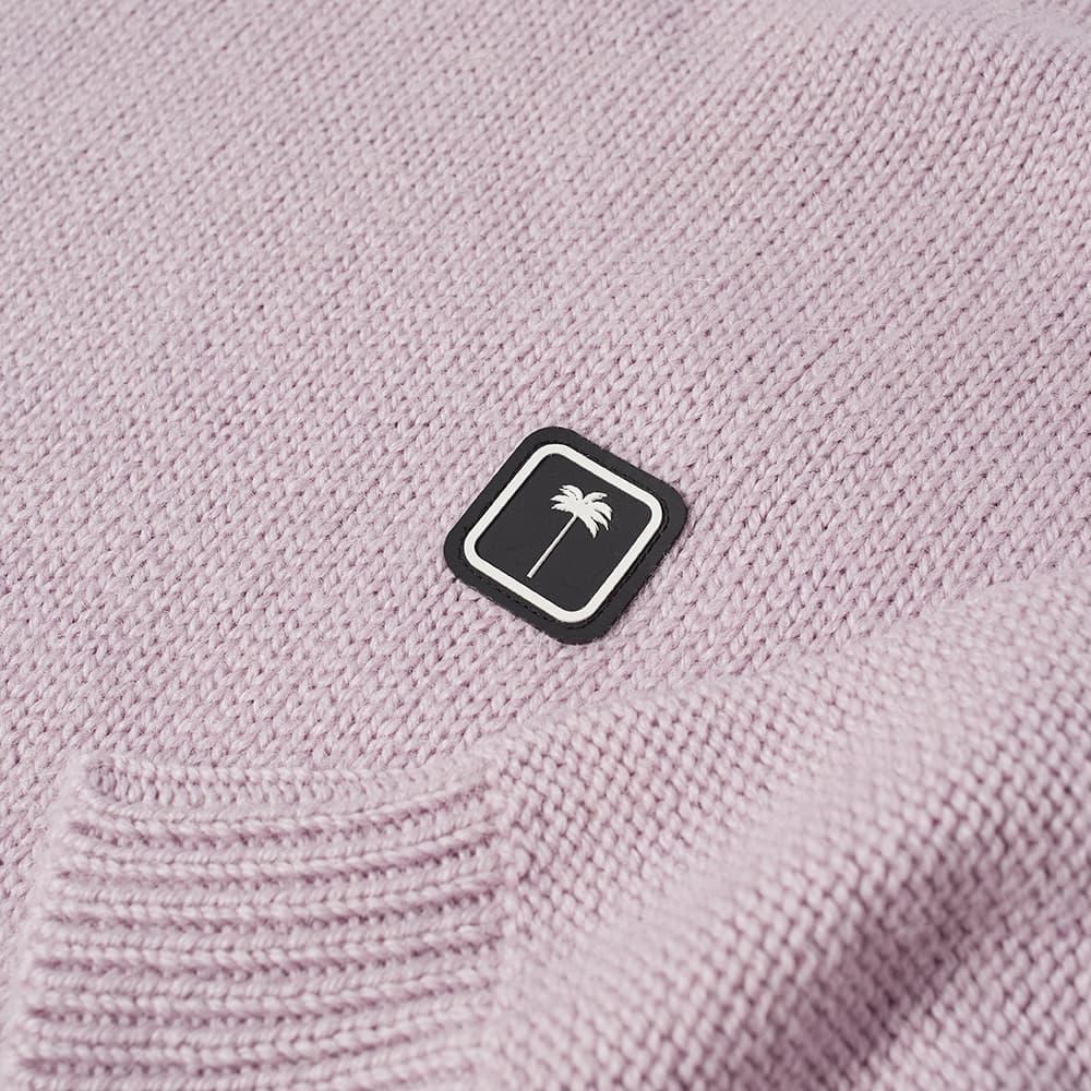 Palm Angels Patch Logo Crew Knit - Lilac & White