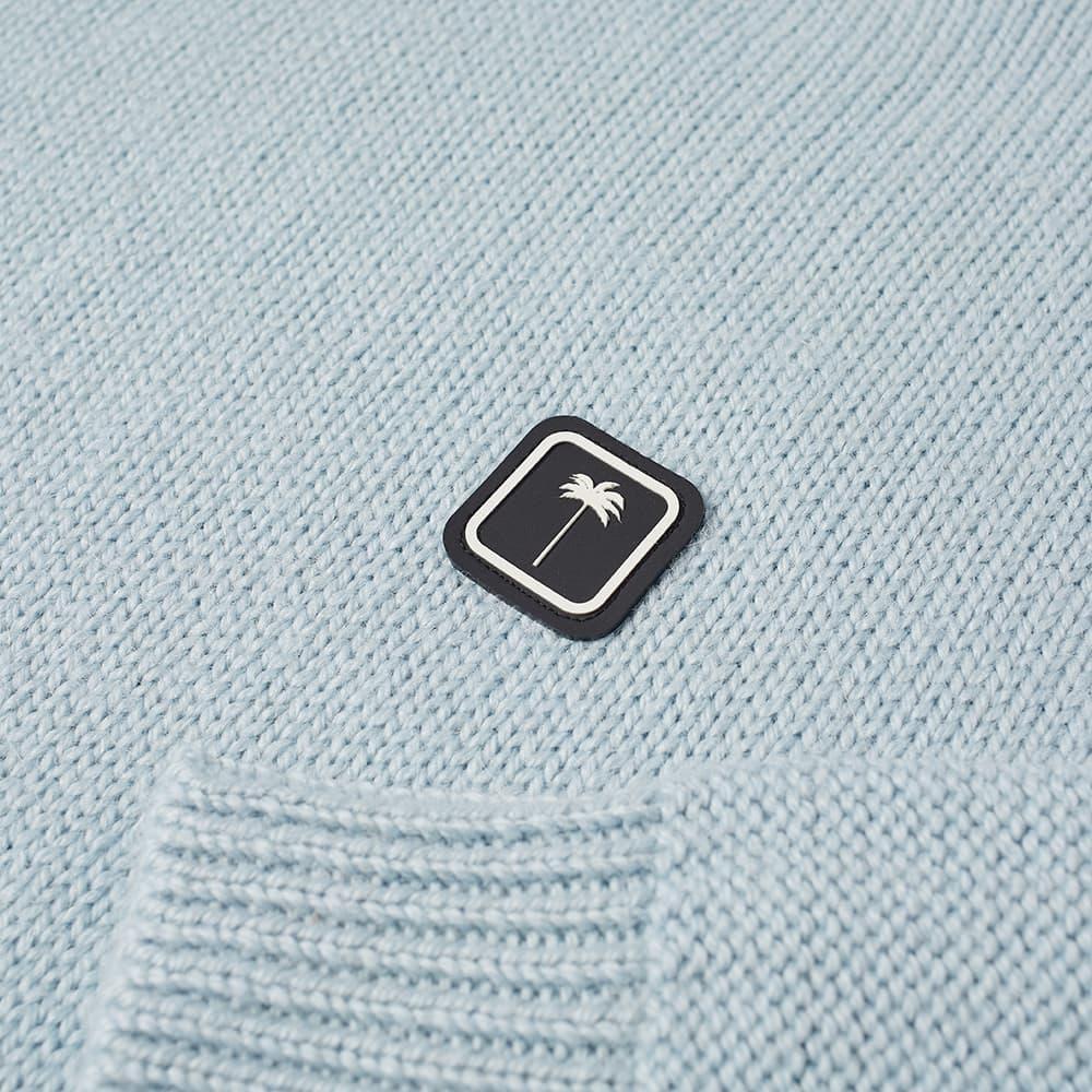 Palm Angels Patch Logo Crew Knit - Blue & White