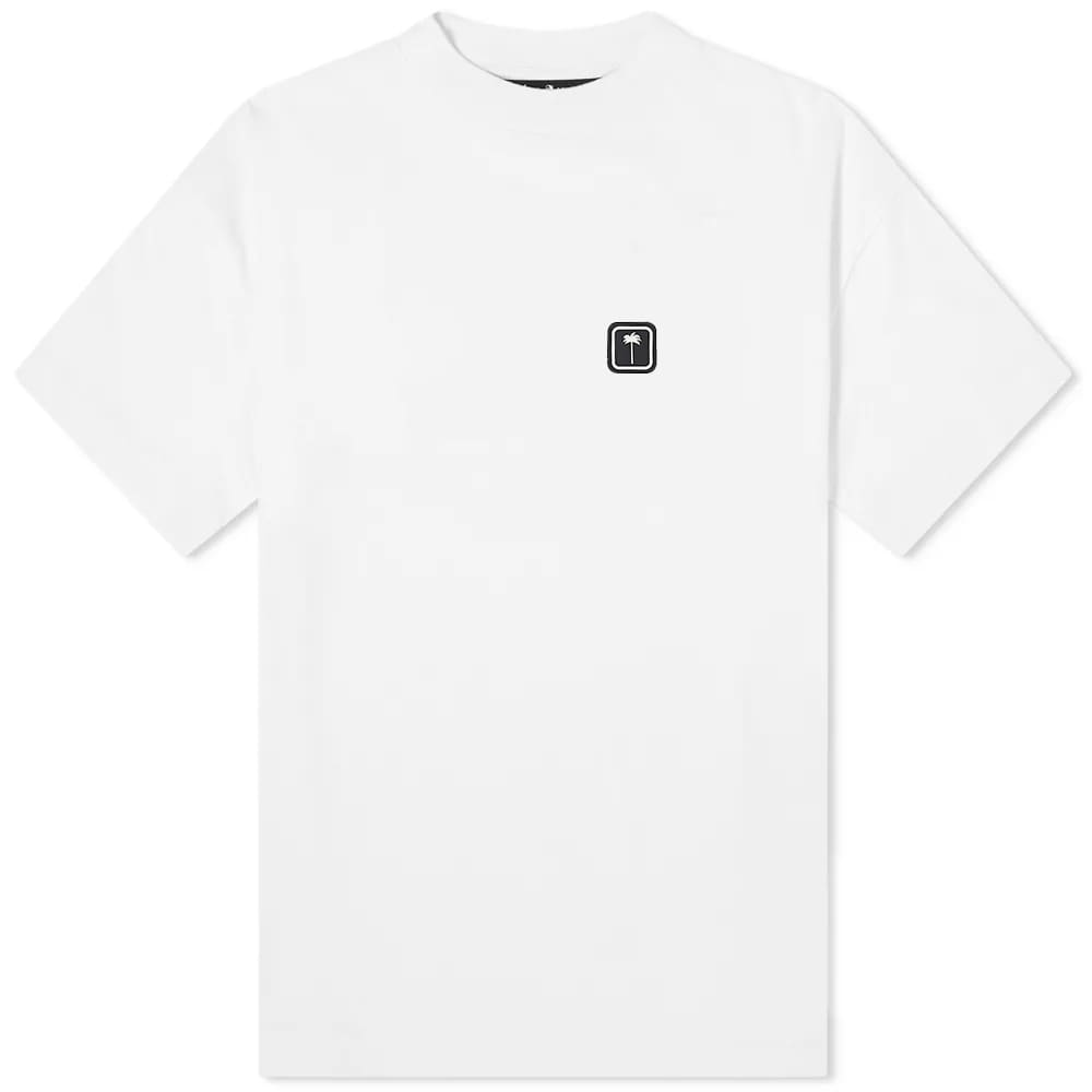 Palm Angels Patch Logo Tee - White
