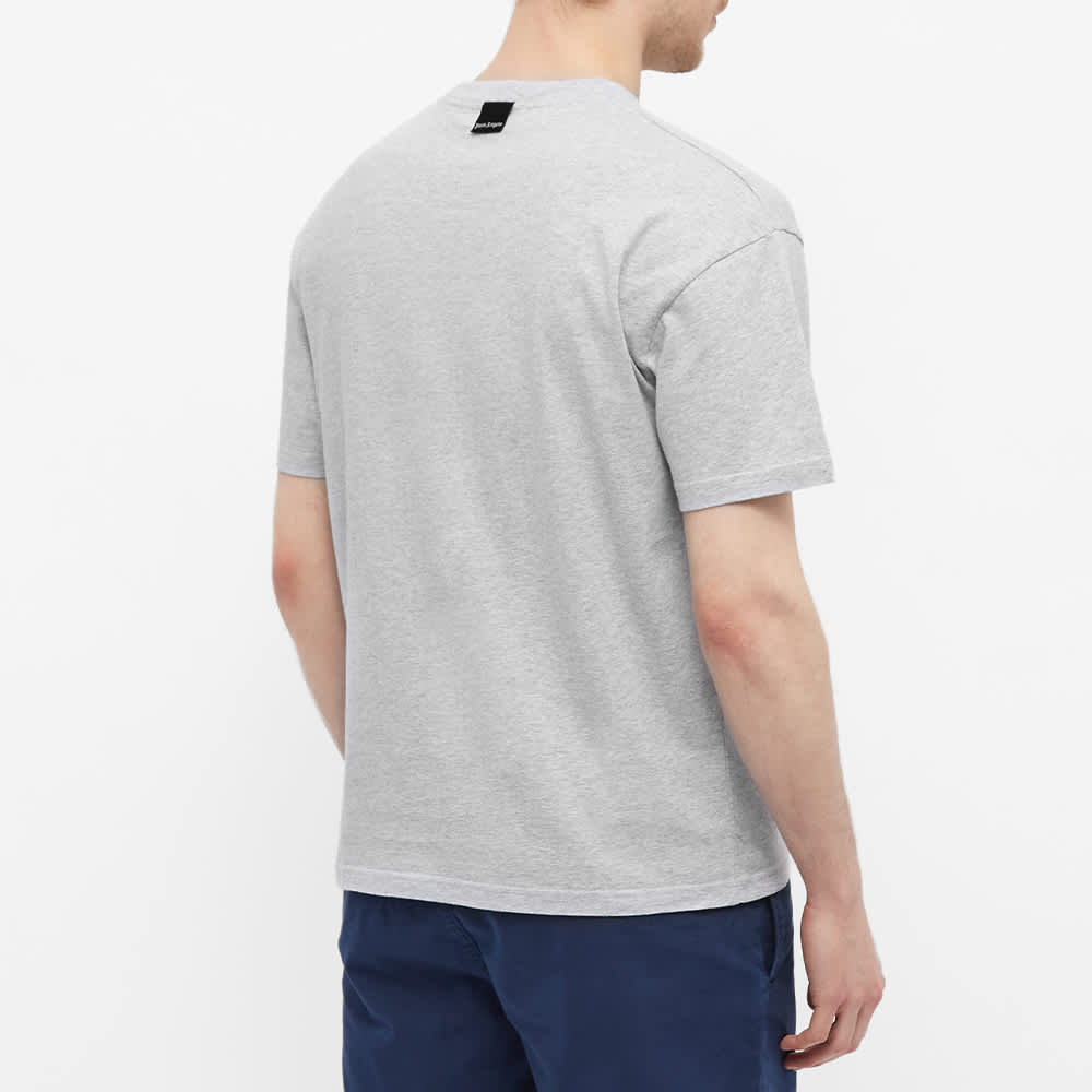 Palm Angels Patch Logo Tee - Grey & White