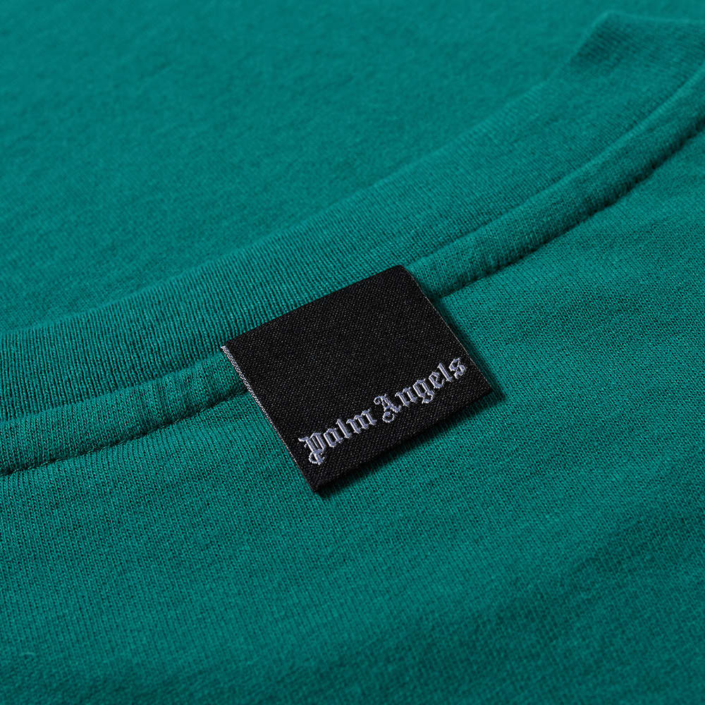 Palm Angels Patch Logo Tee - Green & White