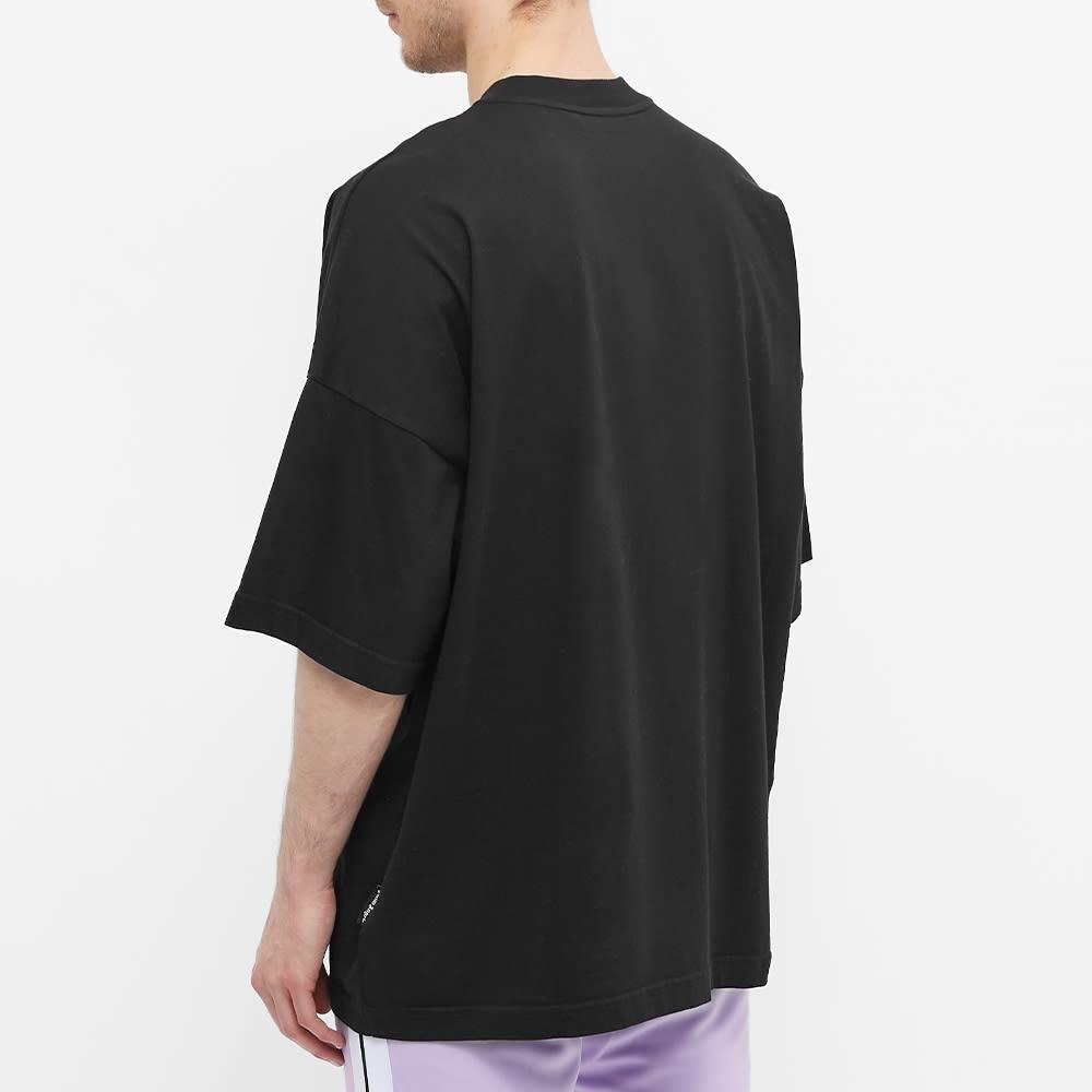 Palm Angels Spray Heart Oversized Logo Tee - Black & Fuchsia