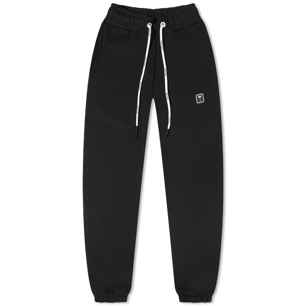 Palm Angels Patch Logo Sweat Pant - Black & White