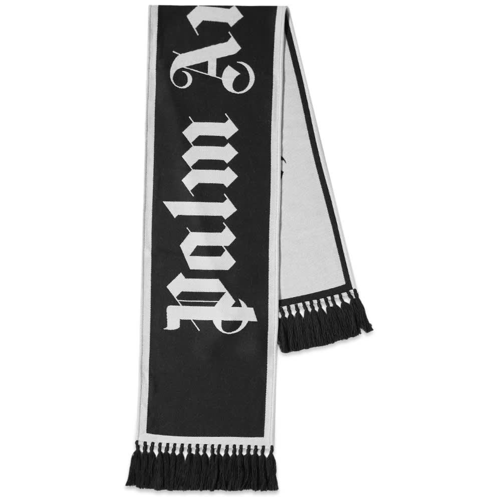 Palm Angels Macro Logo Scarf - Black & White