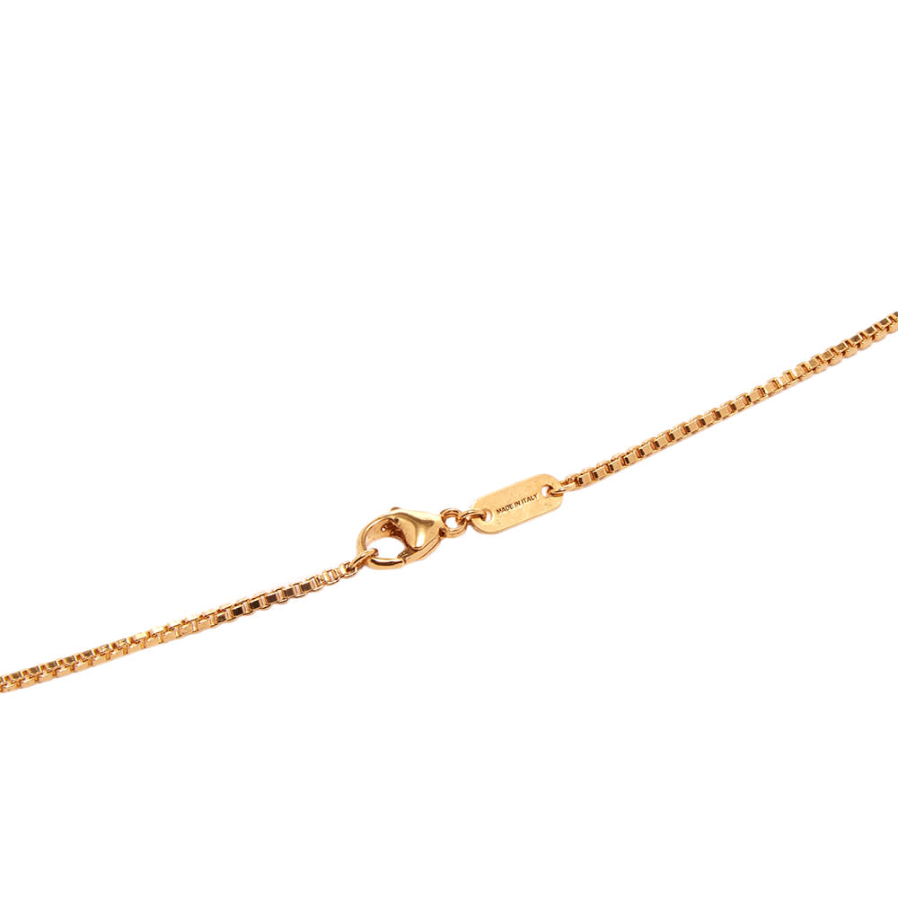 Palm Angels Logo Plate Necklace - Gold