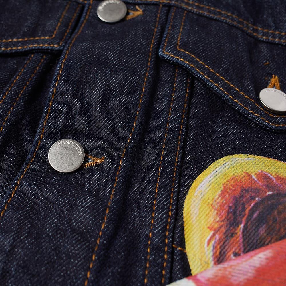 JW Anderson Veggie Fruit Trucker Jacket - Indigo