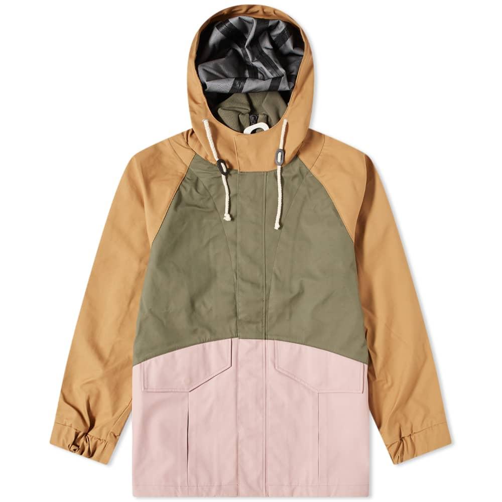 JW Anderson Colourblock Puller Parka - Khaki & Pink