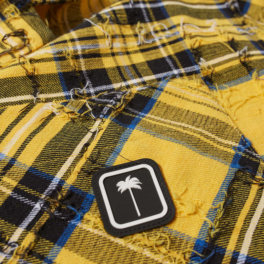 Palm Angels Creative Services Bowling Shirt - Yellow & White