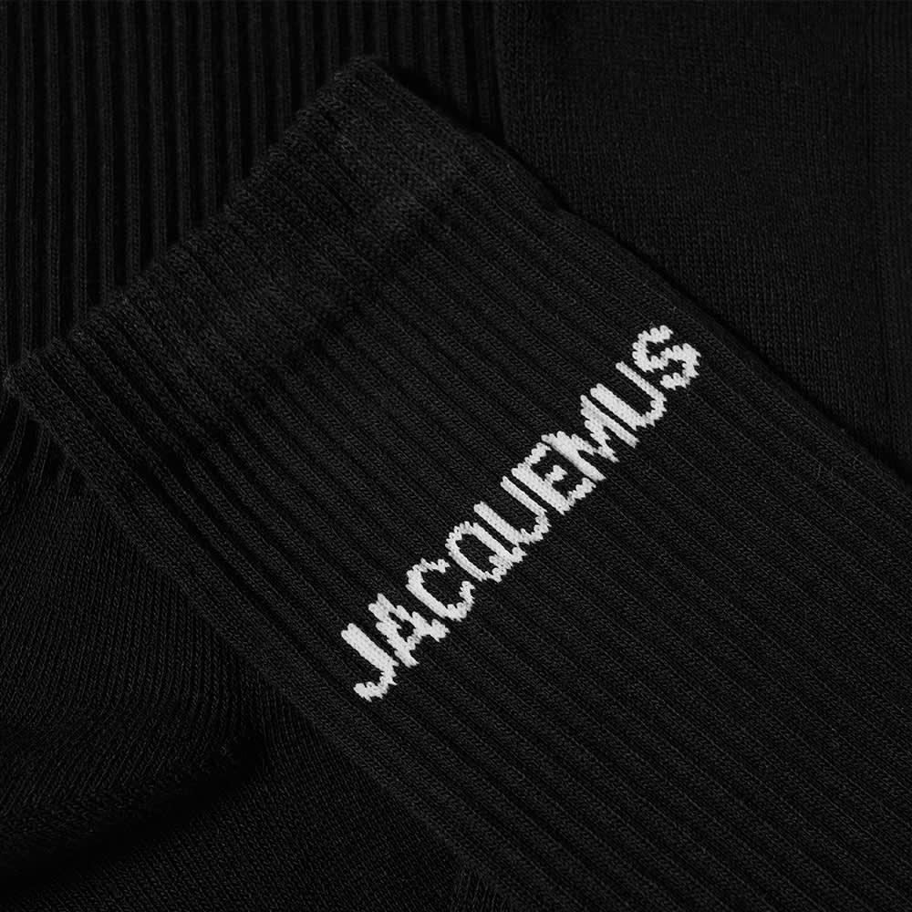 Jacquemus Logo Sock - Black