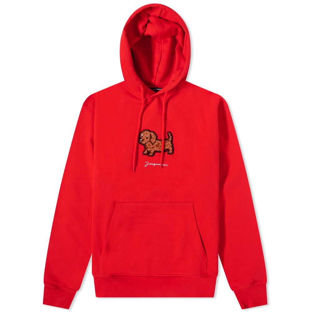 Jacquemus Dog Logo Popover Hoody - Red