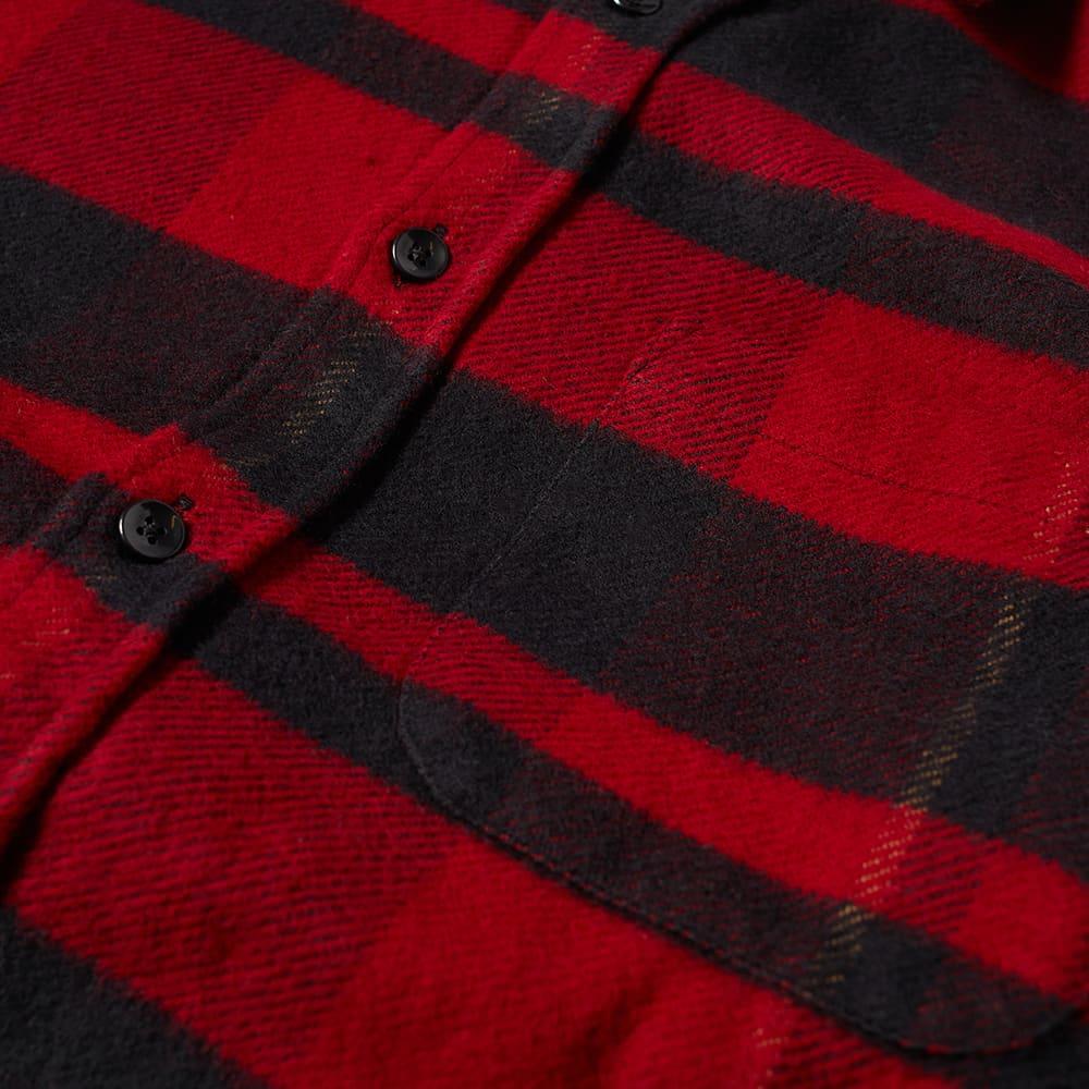 Portuguese Flannel Bonefire Check Flannel Shirt - Black & Red