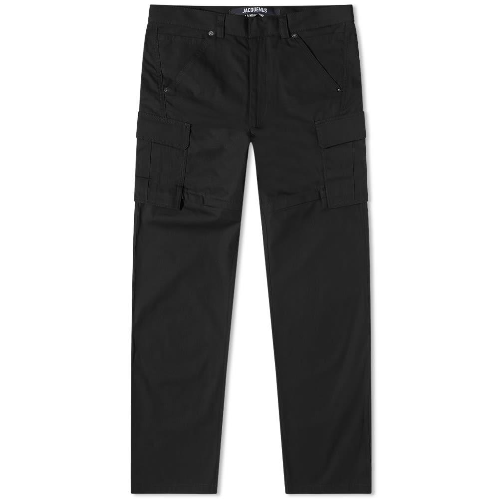 Jacquemus Cargo Tech Zip Off Pant - Black