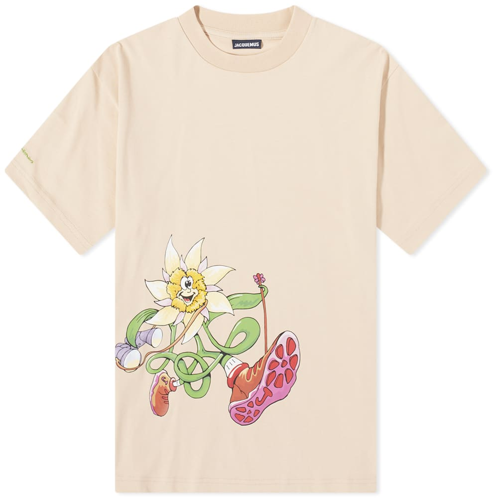 Jacquemus Flower Hiker Tee - Beige