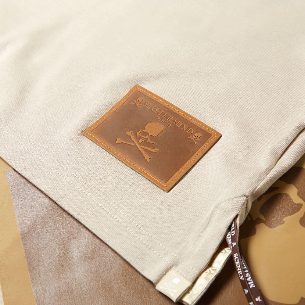 MASTERMIND WORLD Leather Patch Logo Tee - Sand