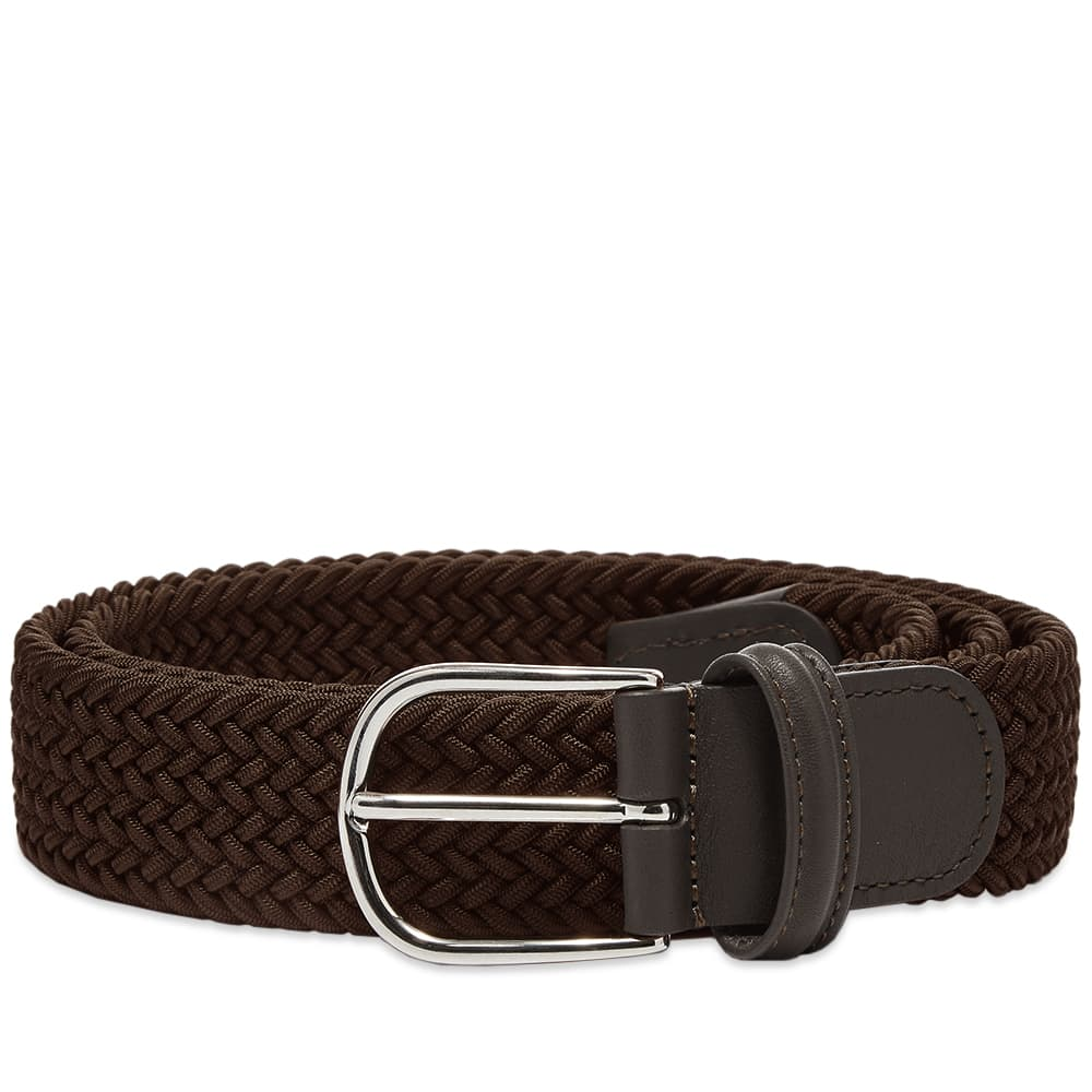 Anderson's Woven Textile Belt - Dark Brown
