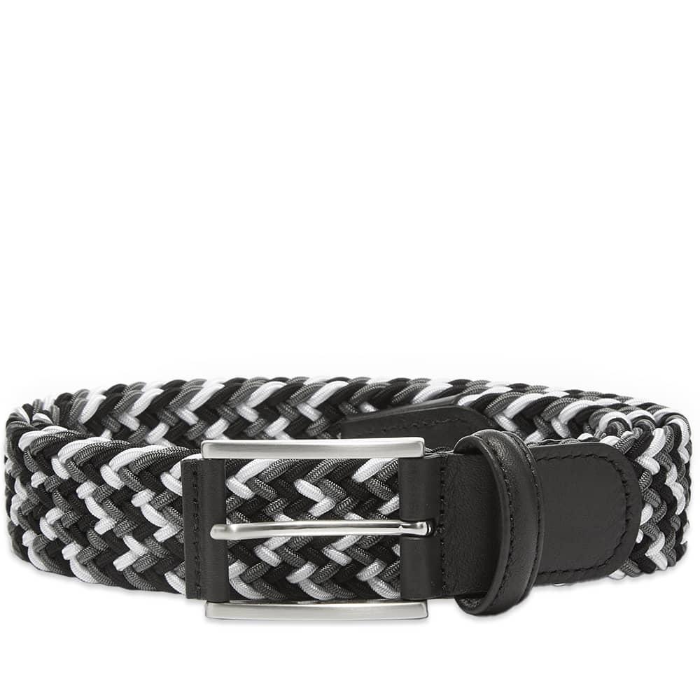 Anderson's Woven Textile Belt - Black, Grey & White