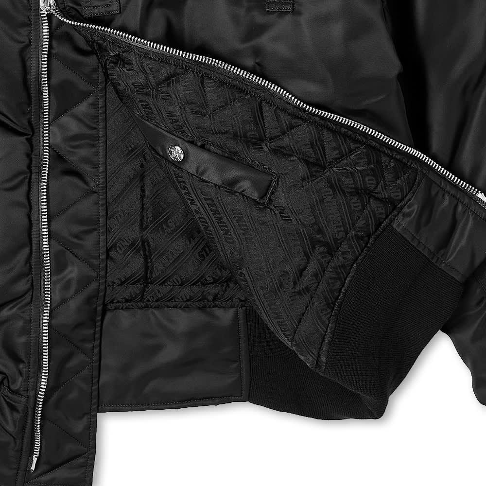 MASTERMIND WORLD Nylon Faux Fur Aviator Jacket - Black