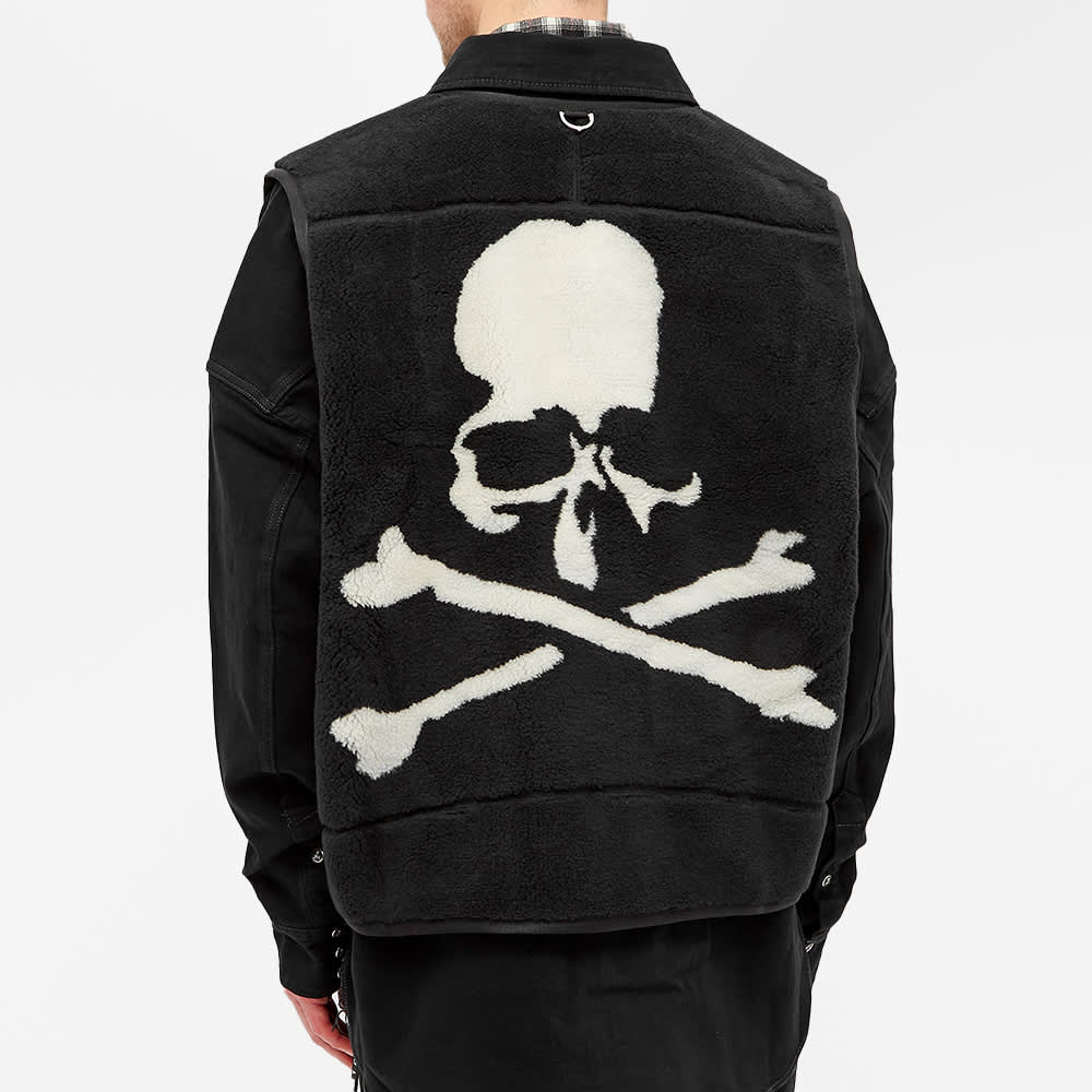 MASTERMIND WORLD Fleece Vest Shirt Jacket - Black