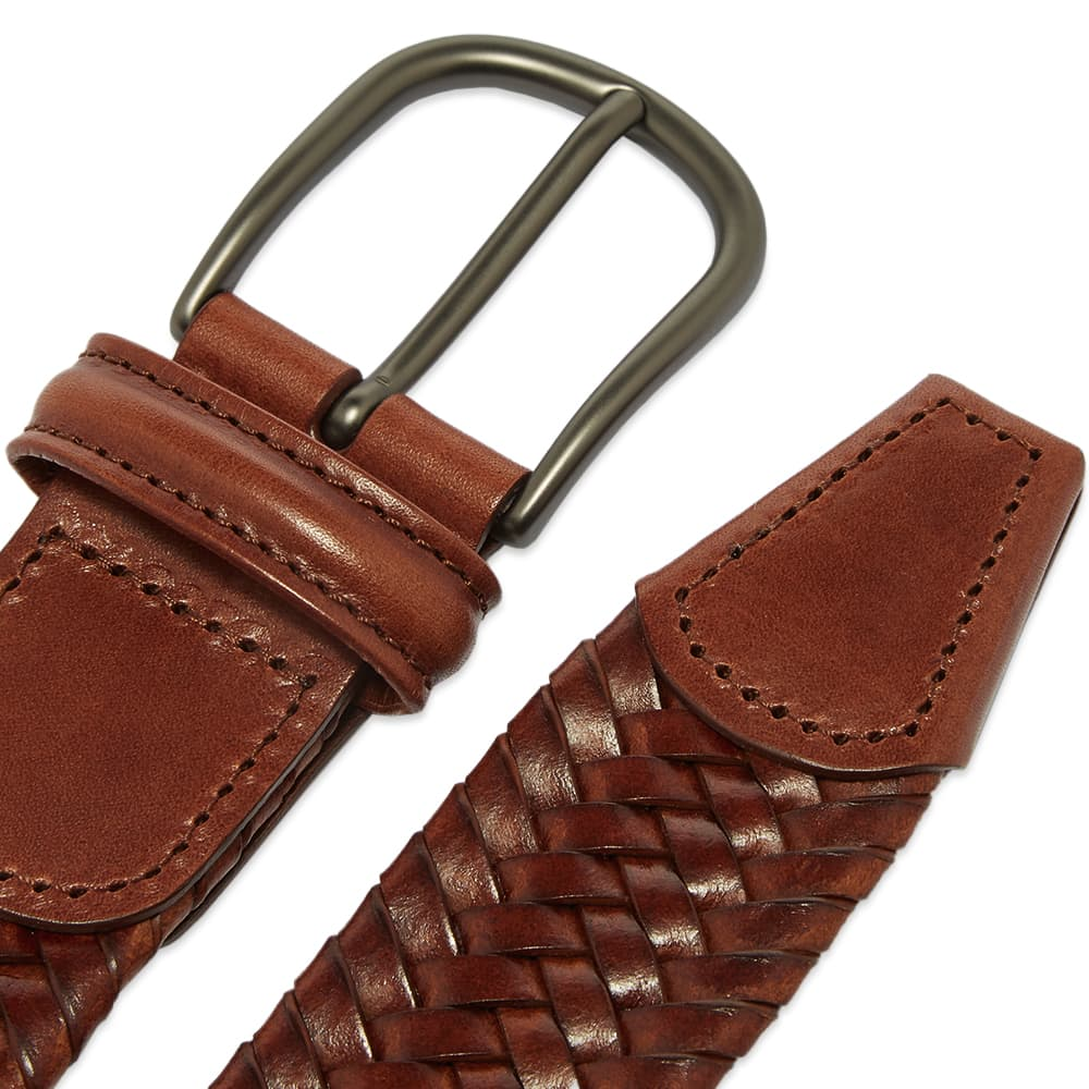 Anderson's Stretch Woven Leather Belt - Tan