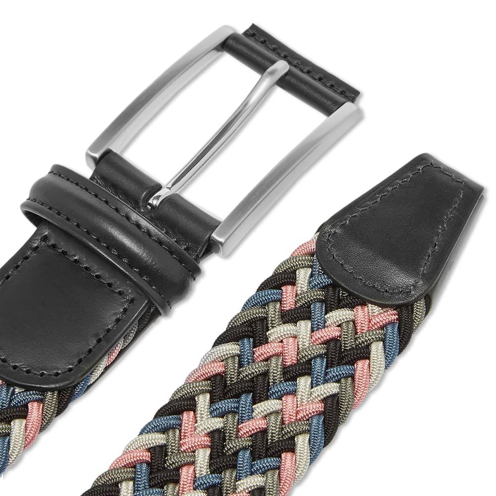 Anderson's Woven Textile Belt - Black, Grey & Pink