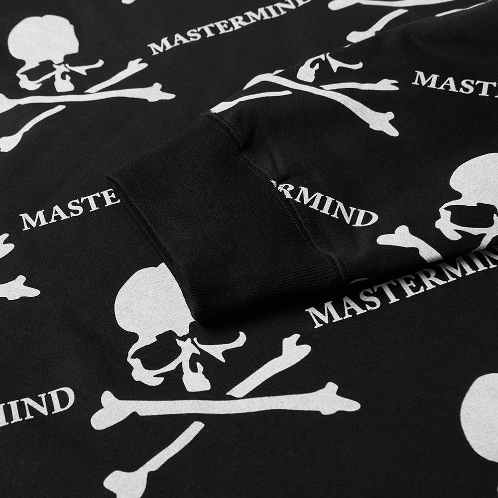 MASTERMIND WORLD All Over Skull Long Sleeve Tee - Black Base