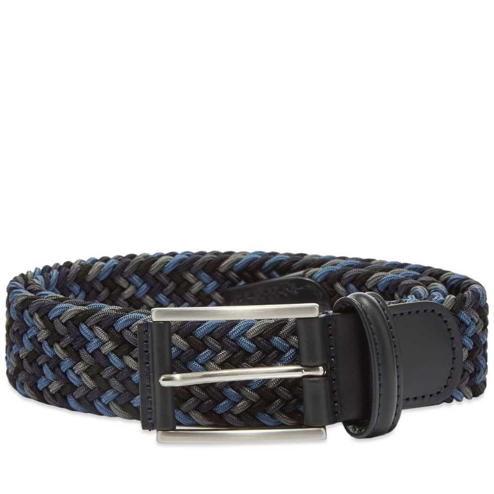 Anderson's Woven Textile Belt - Navy, Blue & Steel