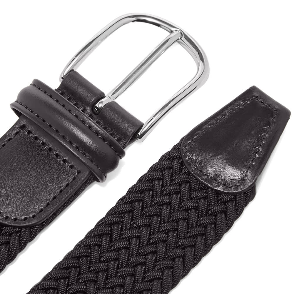 Anderson's Woven Round Textile Belt - Navy