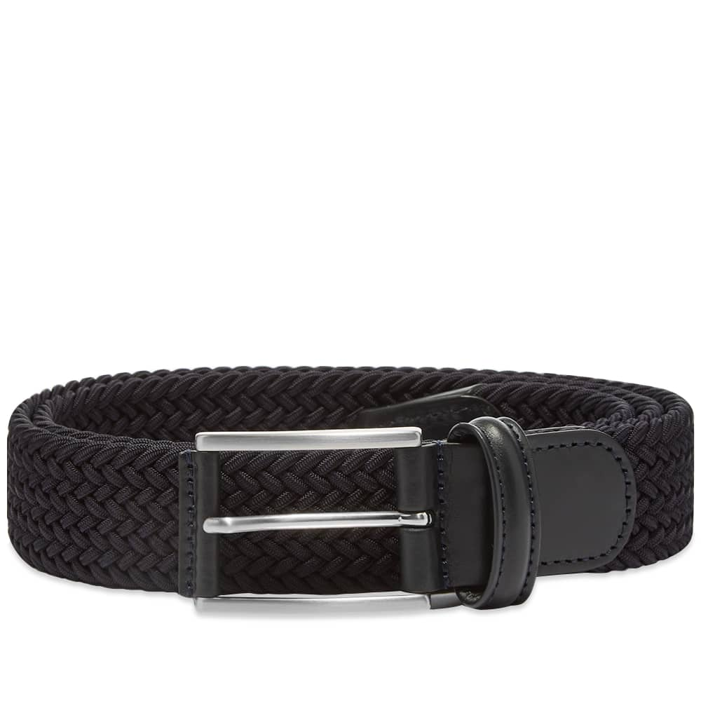 Anderson's Woven Rectangle Textile Belt - Navy