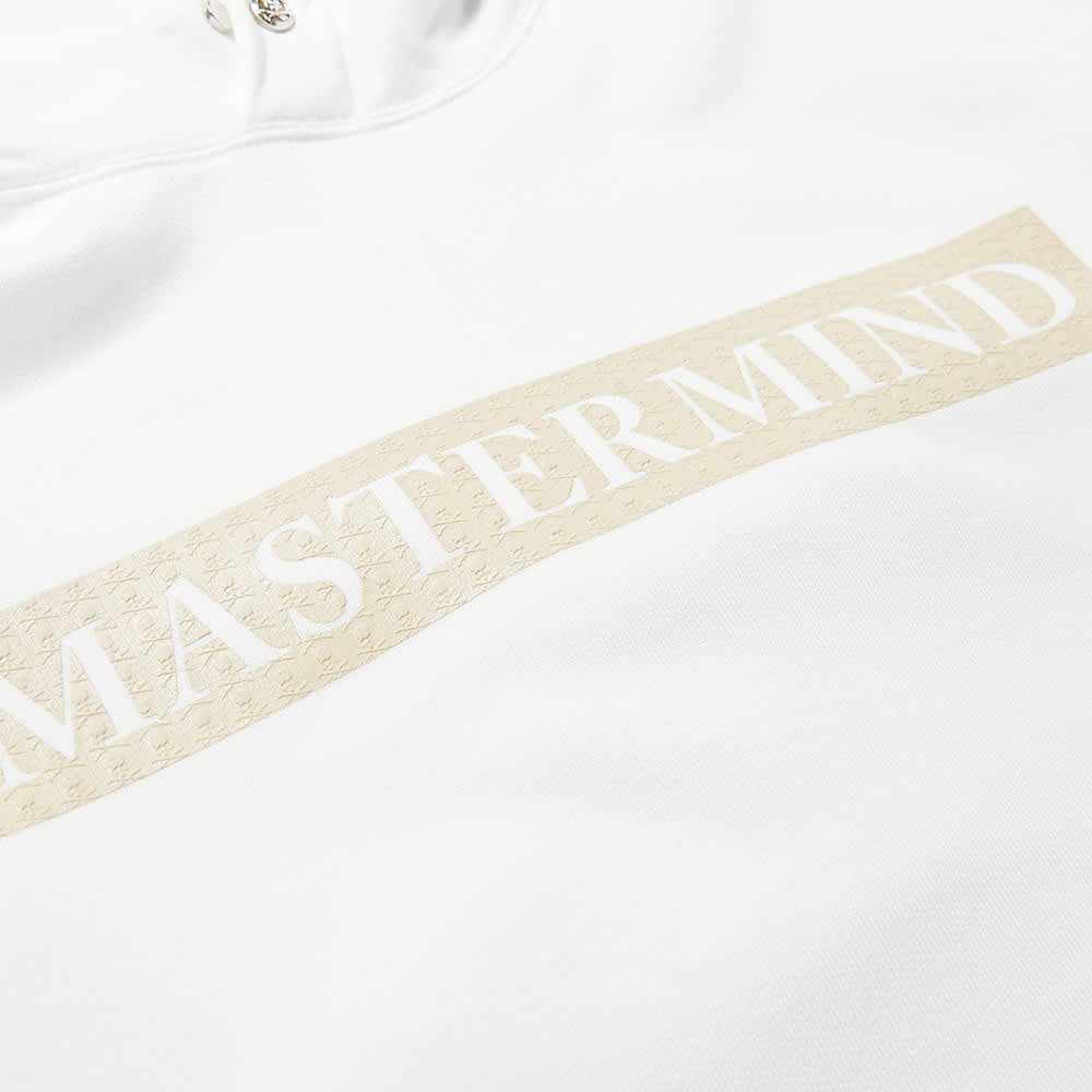 MASTERMIND WORLD Monogram Foam Print Popover Hoody - White