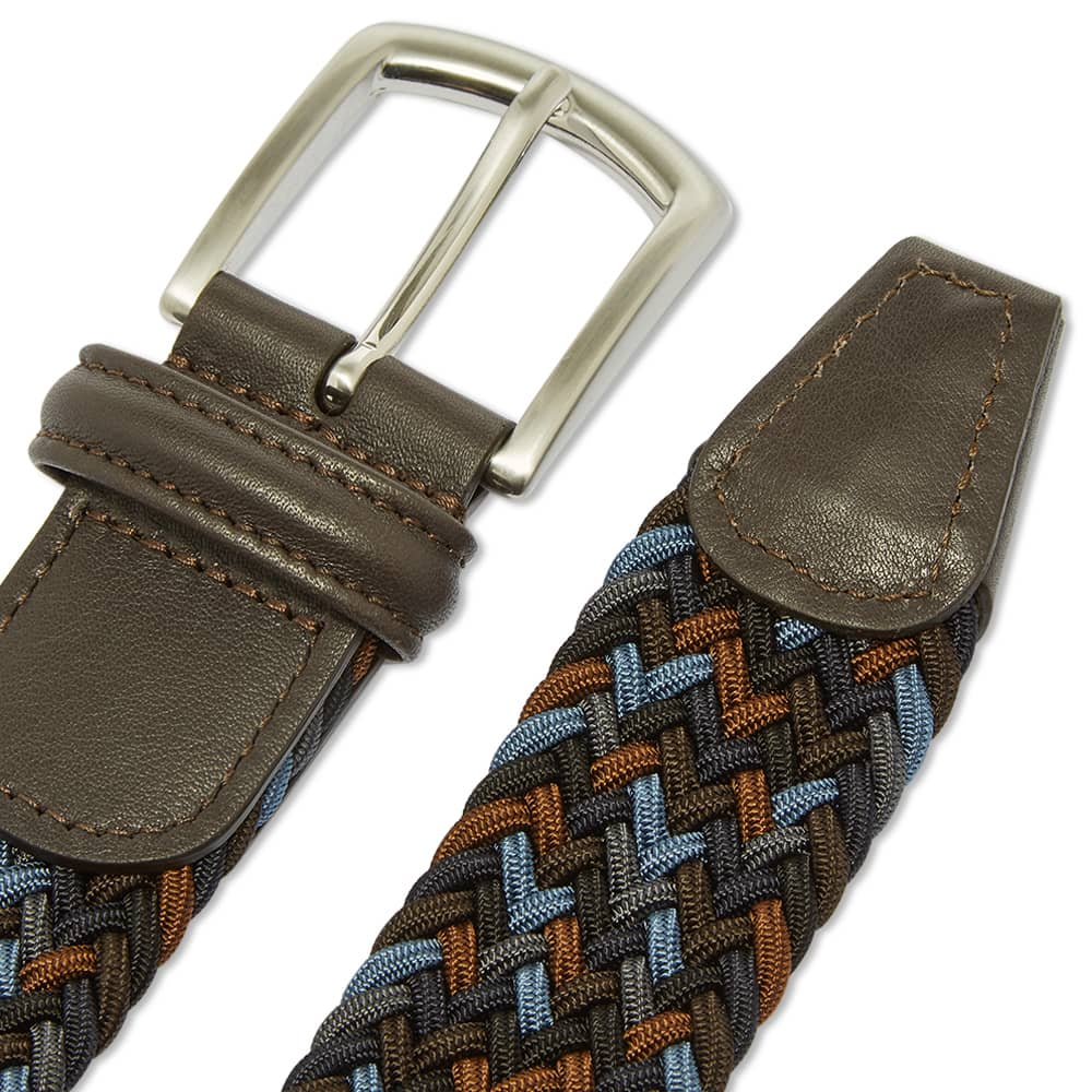 Anderson's Woven Textile Belt - Navy, Blue & Grey