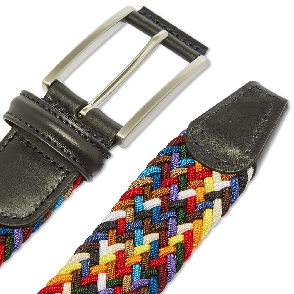 Anderson's Woven Textile Belt - Multi & Navy