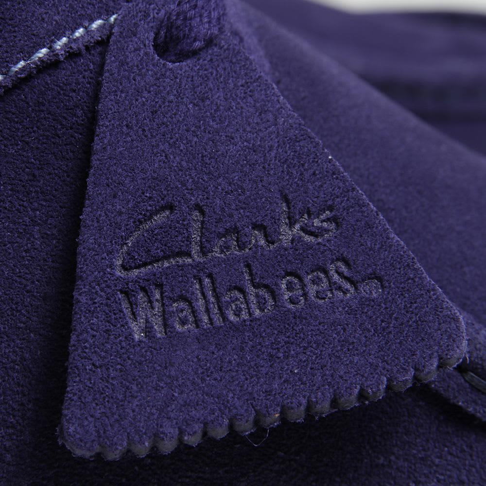 Clarks Originals Wallabee - Dark Blue Suede